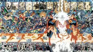 Alex Ross Crisis on Infinite Earth Poster. Precintado. Nuevo. Sealed