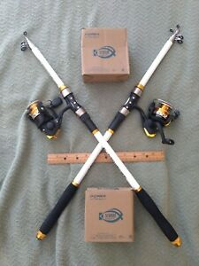 2 New Telescoping Rod & Reel Combo