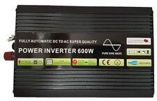 600W/1200W (Peak)Pure Sine Wave Power Inverter Soft Start 12V DC to AC Inverter