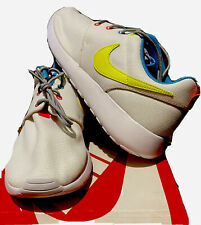 New listing Authentic Nike Roshe One / Youth / White/Volt/Racer Pink Size 6.5