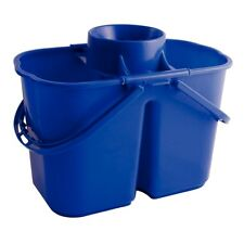 Jantex Colour Coded Twin Mop Bucket Cleaning Supplies Equipment Bucket Blue