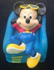 Walt Disney Mickey Mouse Armchair Radio Shack AM Transistor Radio Model 12-910