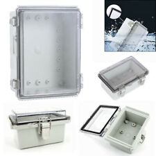 IP67 Waterproof Junction Box Clear Cover Hinged Lid Enclosure Electronic Case