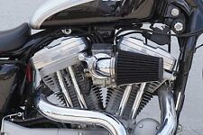 """DNA CHROME """"CONE"""" AIR CLEANER FILTER KIT FOR 91-15 SPORTSTER 883 1200 XL HARLEY"""