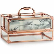 Beautify Large Professional Makeup Beauty Cosmetic Box Vanity Case Clear Acrylic