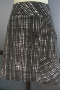 Golf Skirt Skort Shorts Sz 12 Plaid Pockets Quality Piece BLAIN & CARTWRIGHT