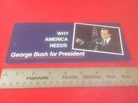 Original 2000 George W Bush For President Campaign Flyer Brochure A FRESH START