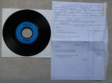 """DISQUE VINYL 45 T SP/ TEST PRESSING FRANCOIS FELMAN """"LE MAL DE TOI """" 1988"""