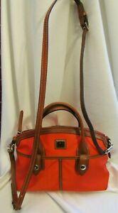 Dooney & Bourke Camden Collection Red Nylon Satchel Handbag