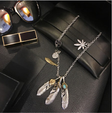 Takahashi Goros Style Eagle Claw Feather Pendants Necklace