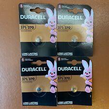 4 X Duracell 371 Silver Oxide 1.5 V watch battery D371/370 V371/370 SR69