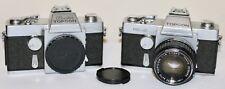 Topcon Chrome RE-2 + D-1 + Black RE Auto Topcor 58mm f/1.8 35mm SLR Film Camera