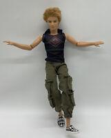 2009 Barbie Fashionistas Hottie Ken Doll Blonde Rooted Hair Surfer Skater