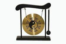 Yin Yang Eight Trigrams Bagua Brass Feng Shui Desktop Gong