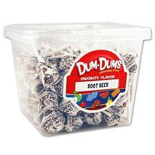 Dum Dum Pops Favorite Root Beer Flavor TWO Big 1 Lb Tubs! Lollipop Dum Dums