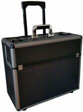 New Aluminium Wheeled Trolley Pilot Case Hard Briefcase Flight Bag Attache Case