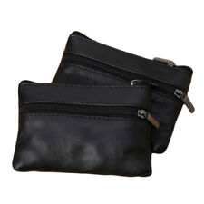 Men/Women Unisex Zip PU Leather Coin Purse Mini Handbag Pouch Money Wallet S