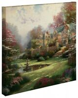 Thomas Kinkade Gardens Beyond Spring Gate 20 x 20 Gallery Wrapped Canvas