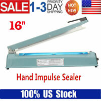 16in 650W Impulse Sealer Manual Heat Sealing Machine Poly Element Tubing Plastic