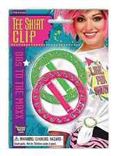 T-Shirt Clips 80's Retro Neon Fancy Dress Up Halloween Costume Party Accessory