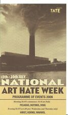 Billy Childish Art Hate, Art Hate TATE Programme of Events circa 2009