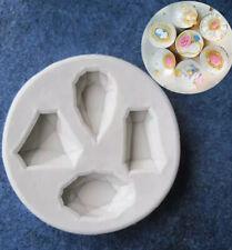 Jewel Diamond Silicone Mould Cup Cake Chocolate Sugar Craft Fondant