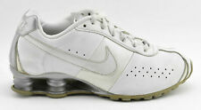 WOMENS NIKE SHOX CLASSIC II 2 RUNNING SHOES SIZE 7 SILVER WHITE LEATHER 343907
