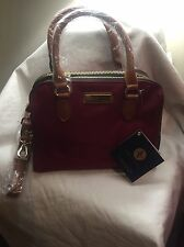 Adrienne Vitradini Three Zip Crossbody Handbag Color: Merlot/Charcoal NWT $175