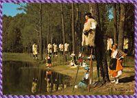 """Carte Postale Visage des Landes Groupe Folklorique """"LOUS BECUTS DE COUNTIS"""""""