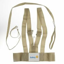 Safety 1st Baby Leash Kids Harness Walker Durable Soft Adjustable Straps Beige