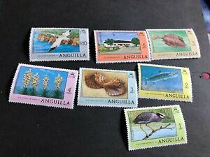 anguilla stamps scott 275-280,290  mnhog scv21.00 a4824