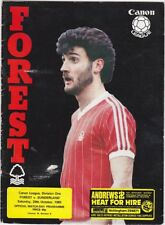 Nottingham Forest v Sunderland Div One 1983 /84 - October 29th