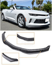 T6 Style PRIMER BLACK Front Bumper Lip Splitter For 16-18 Camaro RS / LT / LS