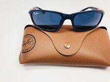 New Ray-Ban Jr KIDS RJ 9056S 188/80 Blue & Orange Sunglasses 50mm  with Case