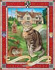 Dick Whittingtons Cat Print LARGE Canvas Picture Poster Painting Geoff Tristram