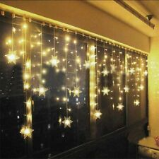 Christmas LED Curtain Snowflake Lights Window String Fairy Waterproof Decor Xmas