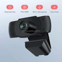 1080P Webcam HD Camera with Mic Microphone Web Cam for Microsoft Windows USB 2.0