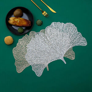 PVC Ginkgo Hollow Coaster Table Bowl Mat Decor Heat Resistant Placemat Din YC