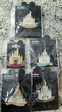 Rare Disney Jumbo Castle Resort Pins Imagineering LE 500 Set of 5 MINT