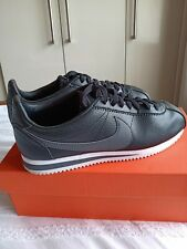 Men's Nike Cortez Black Grey Leather Size 8.5