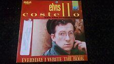 "Rare Elvis Costello Everyday I Write the Book  7"" 45 Spain Spanish issue F-Beat"