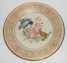 Lenox China Boehm 1980 Black-Throated Blue Warbler Plate