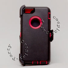 iPhone 6 iPhone 6s Hard Shell Case Holster Fit Otterbox Defender Black Hot Pink
