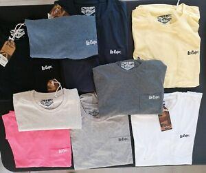 Lot revendeur 58 tshirt lee cooper avec poche mix couleurs et taille S à XL 2€41
