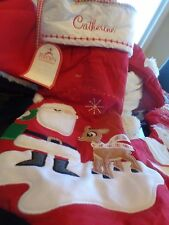 "Pottery Barn Kids Rudolph Christmas stocking monogrammed ""Catherine"" New"