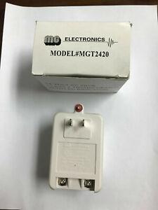 MG ELECTRONICS MGT-2420 AC 24V Transformer 20VA 880ma Plug in Adapter Green LED