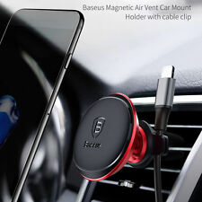 Universal Baseus Air Vent Phone Holder Car Magnetic Mount Stand & Wire Holder