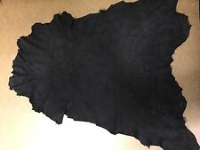 Italian Lamb Suede Leather Skin Hide black - 2 Sq.Ft (2 oz)