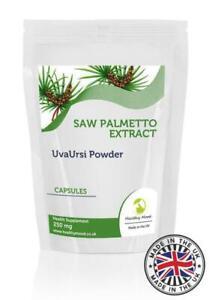 Saw Palmetto 250mg & Uva Ursi Veg Extract Capsules