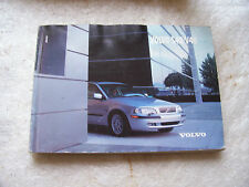 Volvo S40 V40 2002 Edition Owners Handbook TP 5405